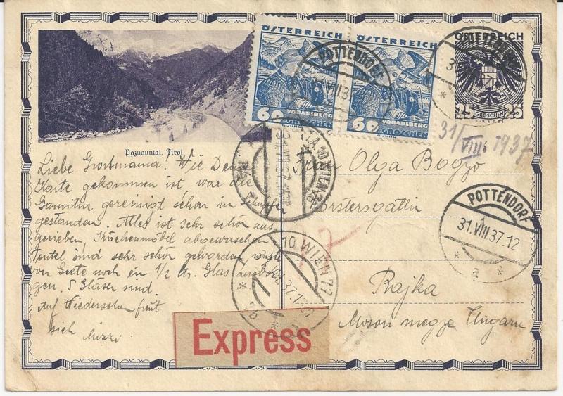 Bedarfspost Ganzsachen Österreich 1925-1938 Bild_417