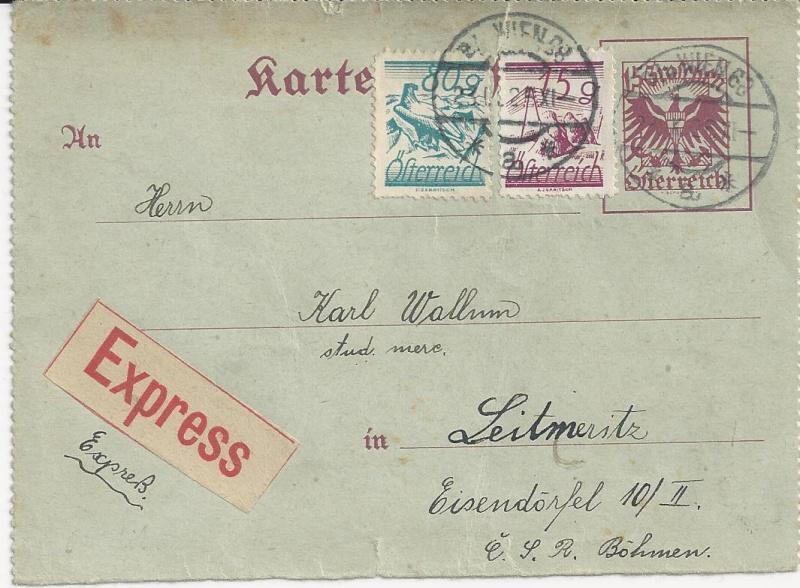Bedarfspost Ganzsachen Österreich 1925-1938 Bild_418