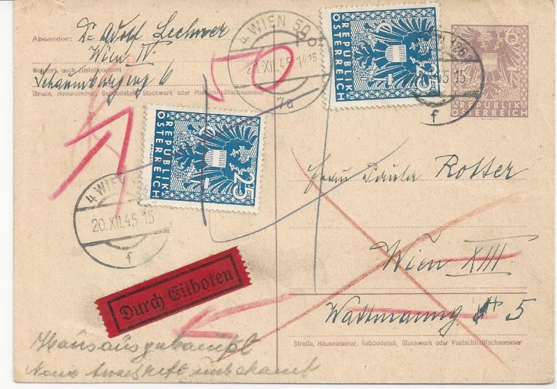 Bedarfspost Ganzsachen Österreich 1945-1947 Bild_440