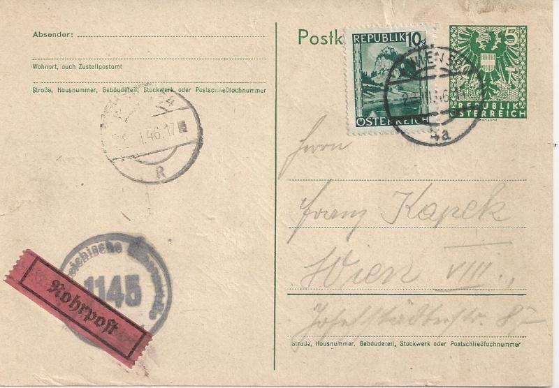 Bedarfspost Ganzsachen Österreich 1945-1947 Bild_441