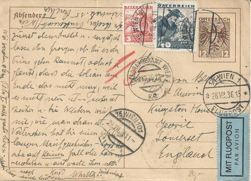 Bedarfspost Ganzsachen Österreich 1925-1938 Bild_513