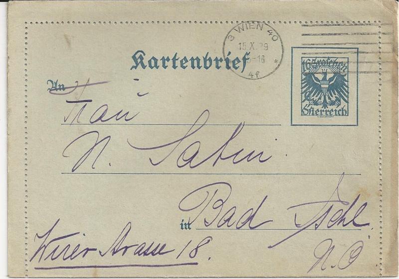 Bedarfspost Ganzsachen Österreich 1925-1938 Bild_516