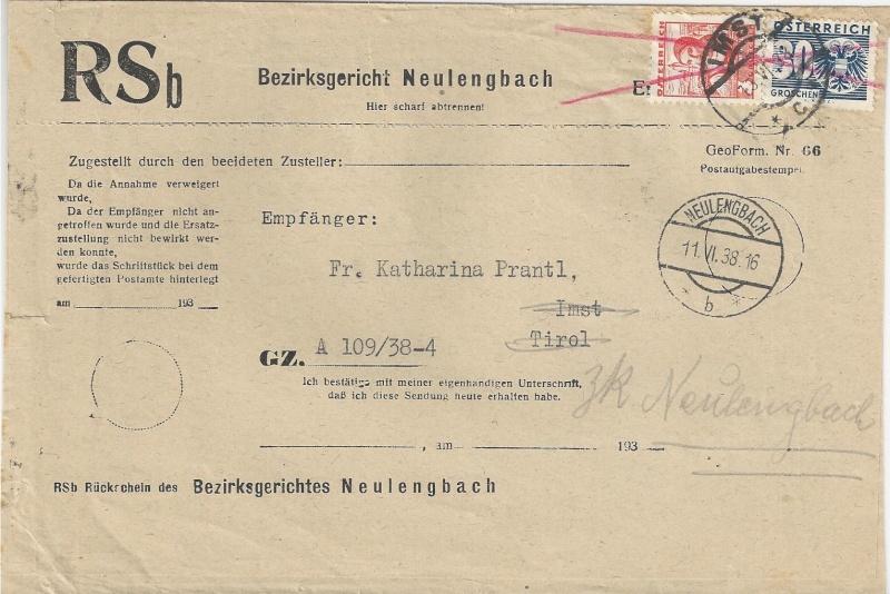 Österreich im III. Reich (Ostmark) Belege - Seite 6 Bild_524