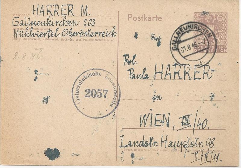Bedarfspost Ganzsachen Österreich 1945-1947 Bild_528