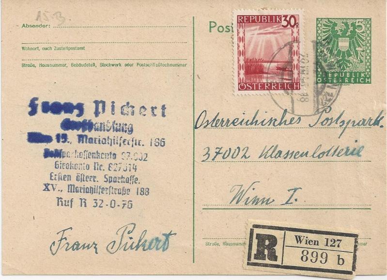 Bedarfspost Ganzsachen Österreich 1945-1947 Bild_529