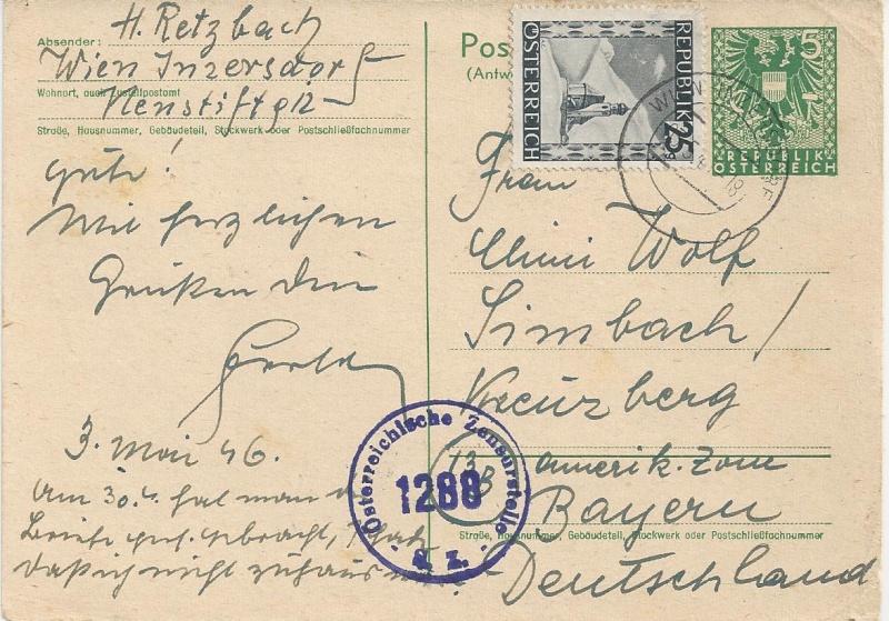 Bedarfspost Ganzsachen Österreich 1945-1947 Bild_530