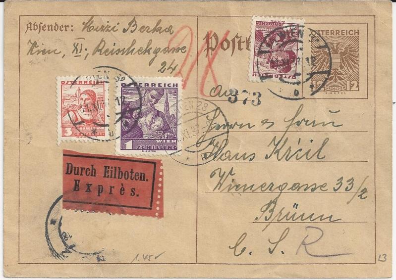 Bedarfspost Ganzsachen Österreich 1925-1938 Bild_612