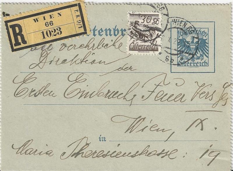 Bedarfspost Ganzsachen Österreich 1925-1938 Bild_614