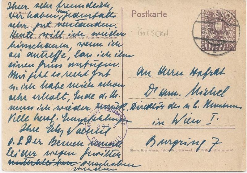 Bedarfspost Ganzsachen Österreich 1945-1947 Bild_624