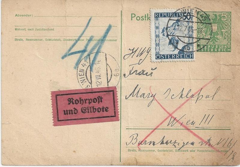 Bedarfspost Ganzsachen Österreich 1945-1947 Bild_625