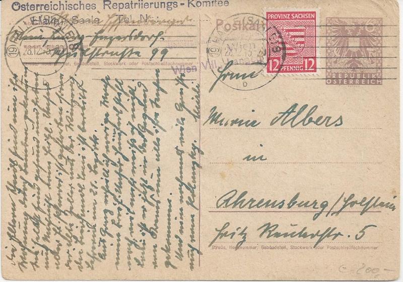 Bedarfspost Ganzsachen Österreich 1945-1947 Bild_626