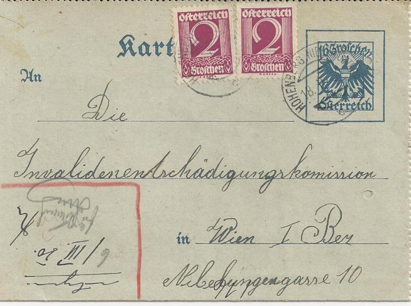 Bedarfspost Ganzsachen Österreich 1925-1938 Bild_712