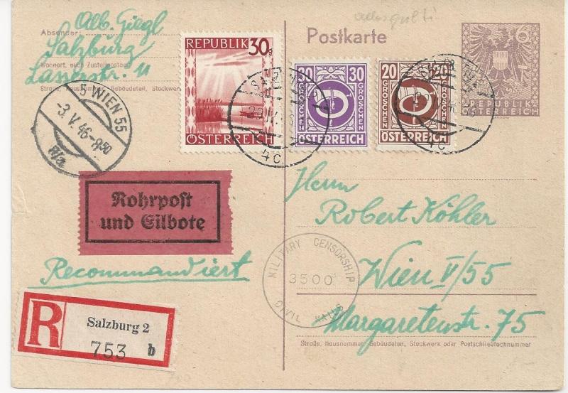Bedarfspost Ganzsachen Österreich 1945-1947 Bild_721