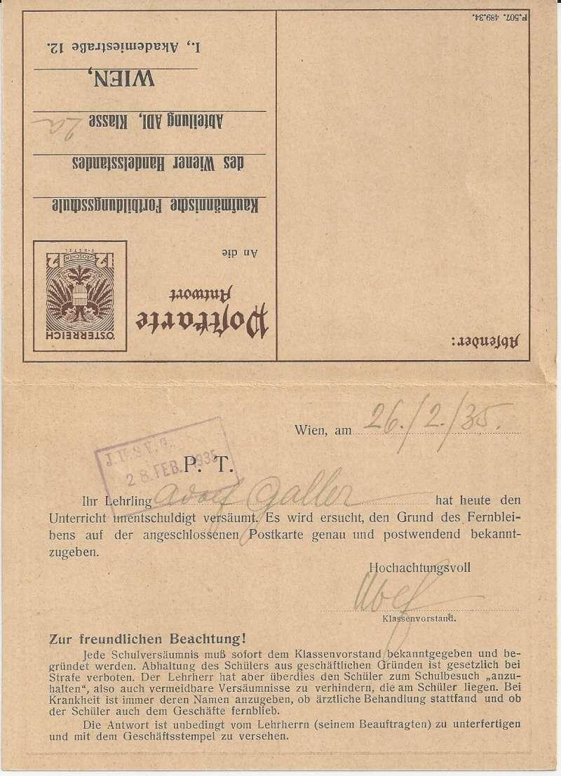 Bedarfspost Ganzsachen Österreich 1925-1938 Bild_810