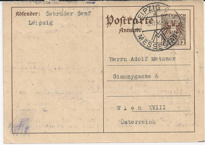 Bedarfspost Ganzsachen Österreich 1925-1938 Bild_910