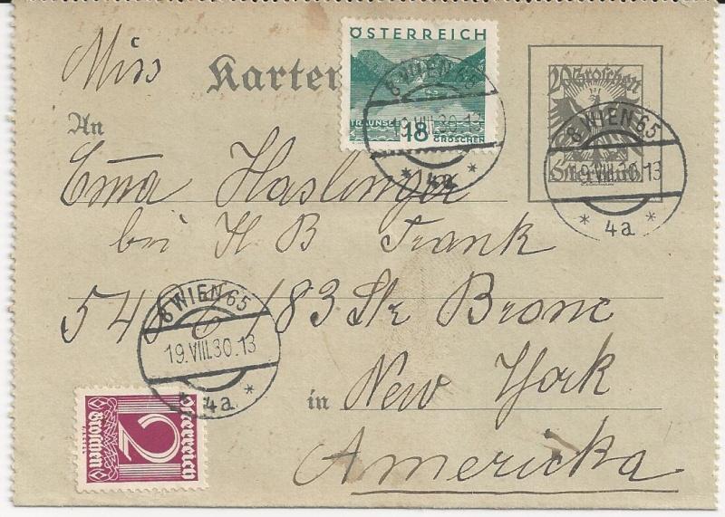 Bedarfspost Ganzsachen Österreich 1925-1938 Bild_911