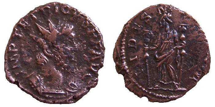 Tetricus Ier - association d'une titulature longue  au revers FIDES MILITVM inédit T1-02g11
