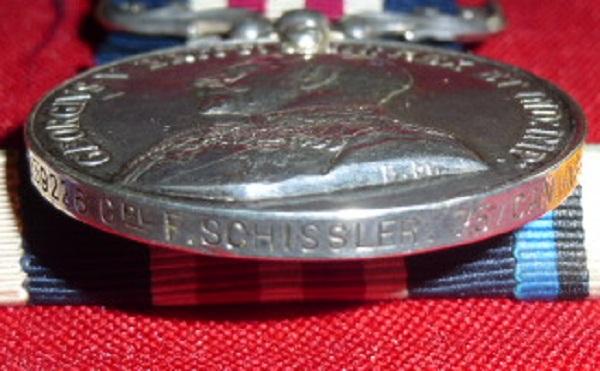 CORP. / LIEUT. F. SCHISSLER, MC, MM, 75TH BATTALION C.E.F. Mc_mm_13