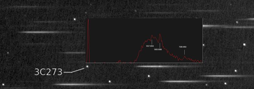 Redshift du quasar 3C273 Integr10