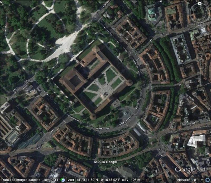 le Castello Sforzesco, Milan, Italie 311