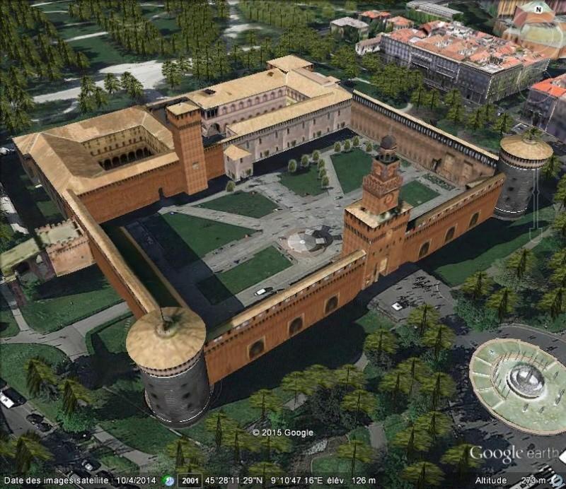 le Castello Sforzesco, Milan, Italie 410