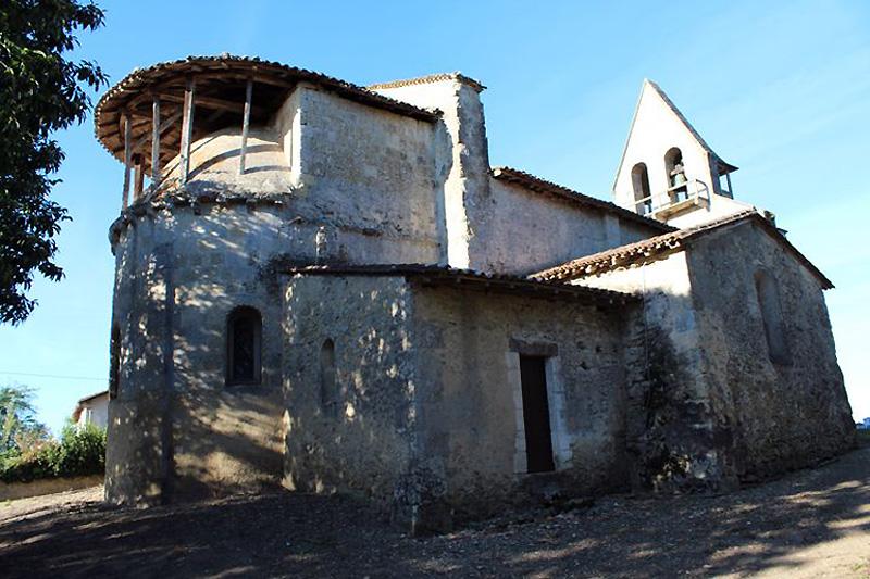 L'Eglise Saint Romain de Mazérac - Castets en Dorthe - Gironde  - France Eglise10