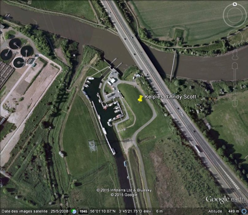 [Enfin visible sur Google Earth] - Les Kelpies d'Andy Scott - Falkirk - Ecosse - UK N25