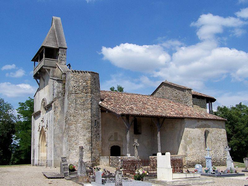 L'Eglise Saint Romain de Mazérac - Castets en Dorthe - Gironde  - France Pa000810
