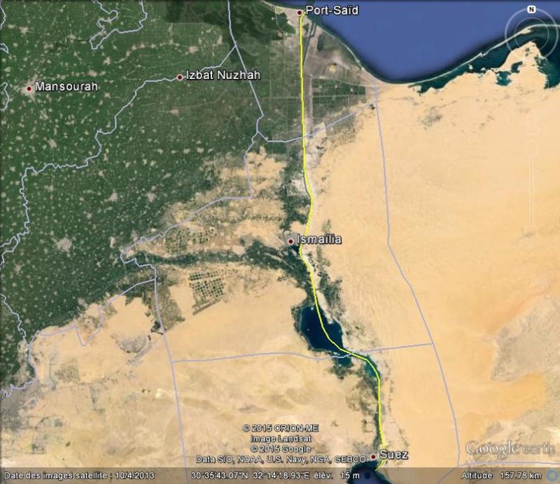 Le Canal des Pharaons : des travaux pharaoniques il y a près de 4000 ans. Suez_g10