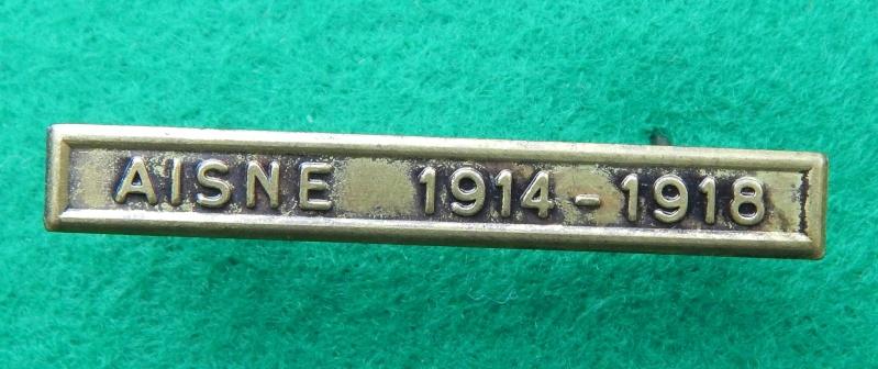 Barrette Aisne 1914-1918 pour médaille des rescapés de l'Aisne Dscn1220