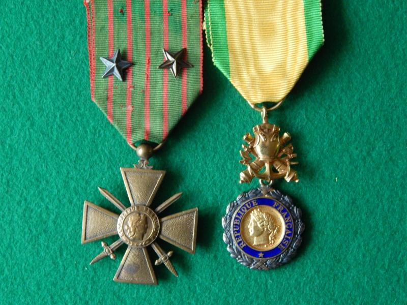 Croix de guerre 1914-1917 et médaille militaire à anneau Dscn1325