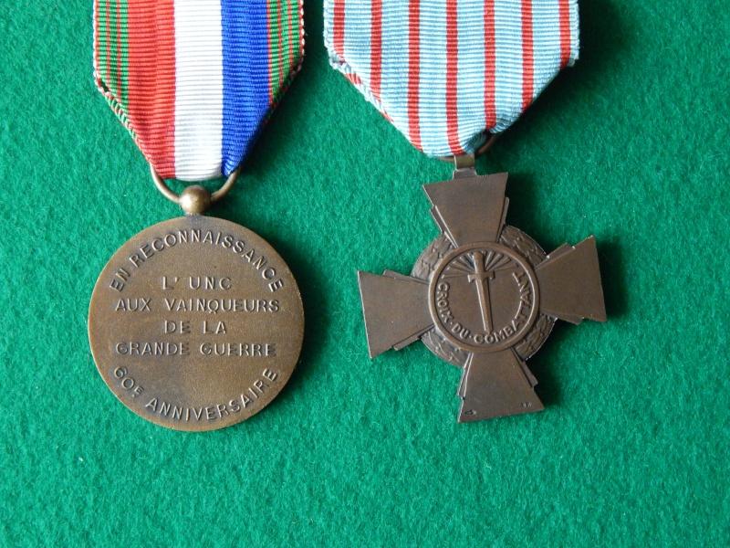 Croix du combattant et médaille UNC 60°anniversaire Dscn1329