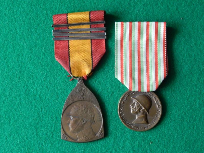 Médaille commémorative 1914-1918 Belgique et Italie Dscn1333