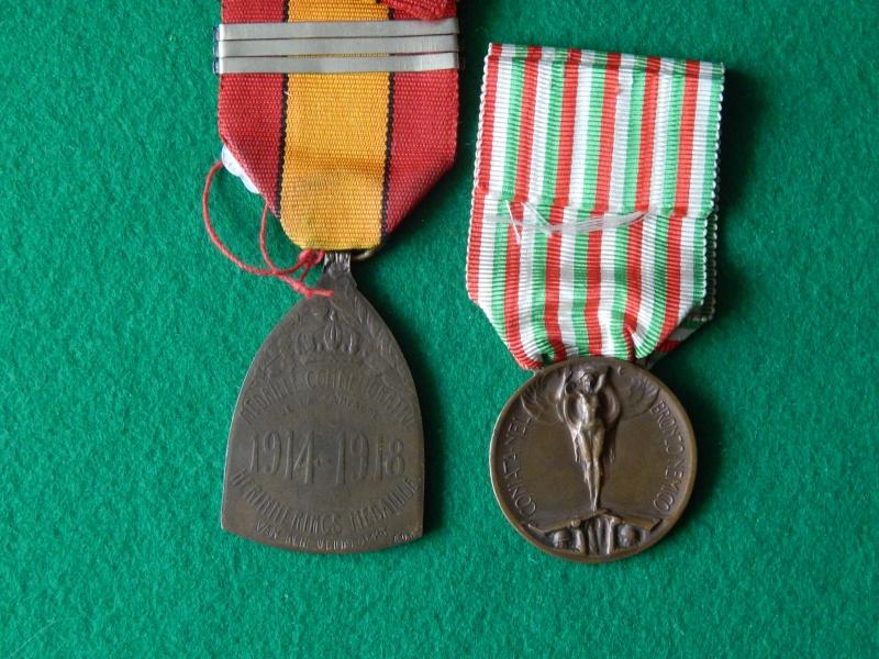 Médaille commémorative 1914-1918 Belgique et Italie Dscn1334