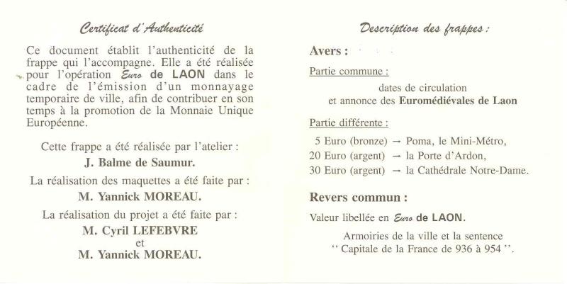 Les Euros et Ecus J.BALME 98-lao11