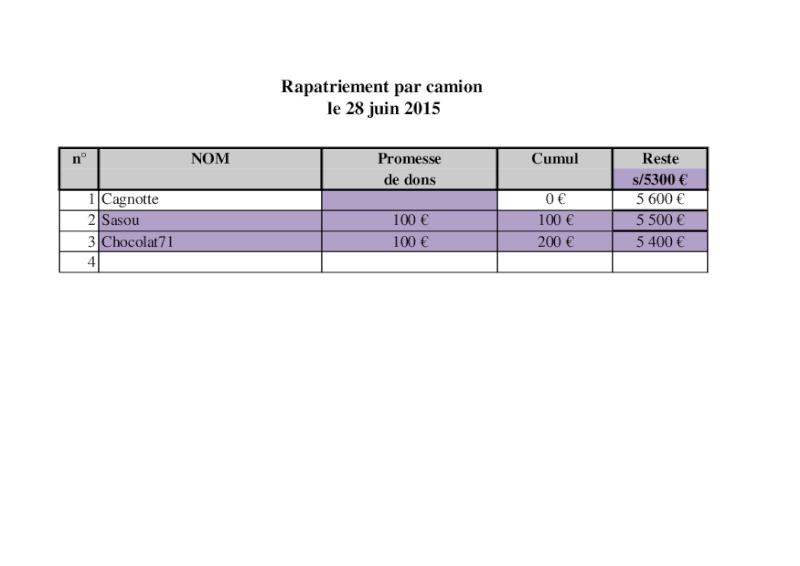 RAPATRIEMENT CAMION   ARRIVEE ST AVOLD ET PARIS LE 28 JUIN 2015 - Page 2 Camion10