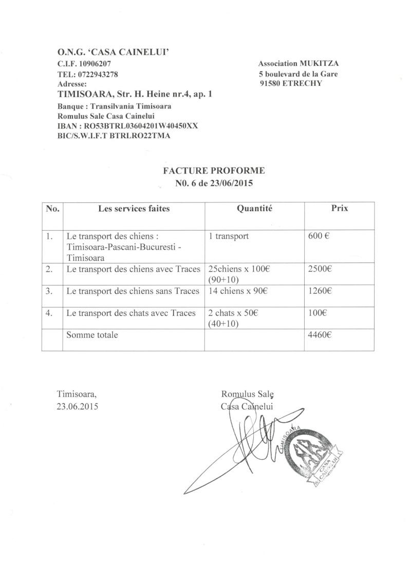RAPATRIEMENT CAMION   ARRIVEE ST AVOLD ET PARIS LE 28 JUIN 2015 - Page 4 Factur10