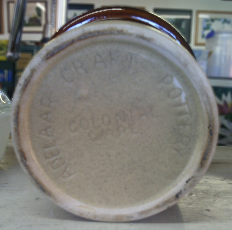 Adelaar Craft Pottery Collonial Ware pot for gallery Img_2012