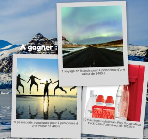29.06 Tas Darty un voyage en Islande , 9 passeports aquatique , 10 Sodastream DLP:5/07 Jeu56
