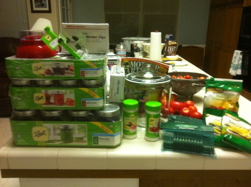 first serious canning session  Cannin12