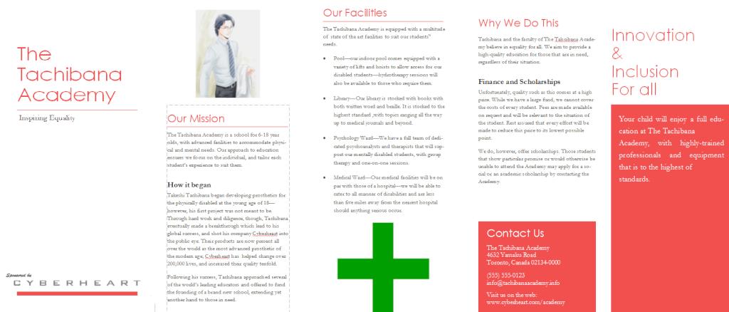 [PRIME] Brochure for The Tachibana Academy Academ10