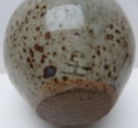 Globular vase with incised mark Marksp87