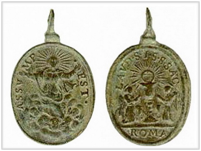 ICONOGRAFIA de LA ASUNCIÓN DE LA VIRGEN en las medallas devocionales Asunci10