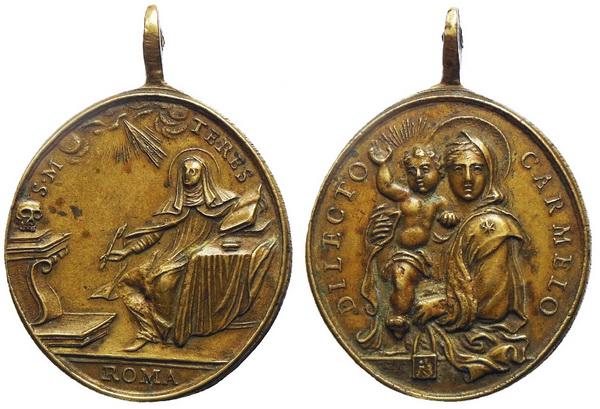 Recopilación medallas Orden Carmelitas Descalzas: Santa Teresa de Jesús Avelin11