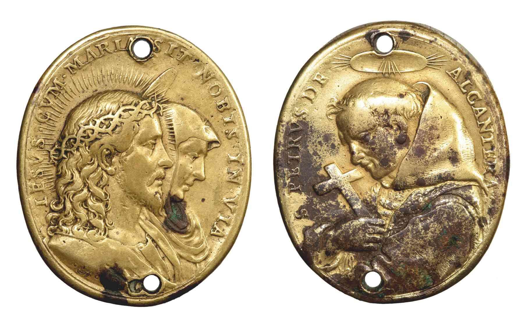Jesucristo y Virgen María / San pedro de Alcántara (R.M. SXVII-O368) D042_d10