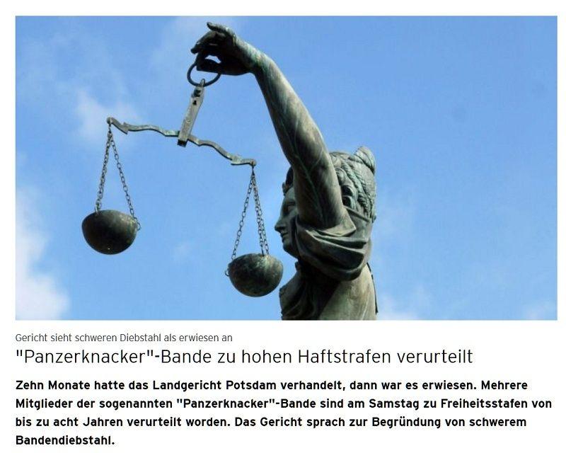 """""""Panzerknacker"""" zu hohen Haftstrafen verurteilt ..... Panzer10"""