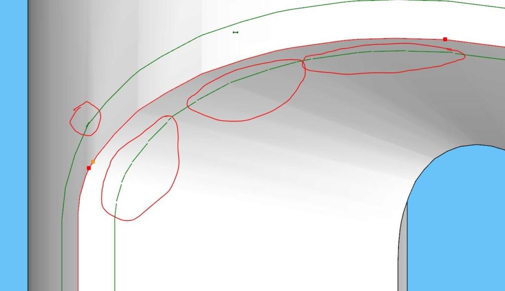[ SKETCHUP généralité ] Tracer la paralèlle à une courbe sur un plan courbe? 1111