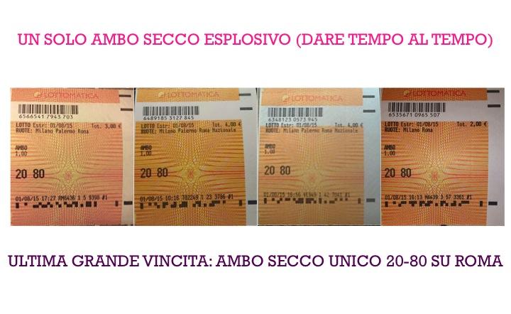 GIUSEPPE CHIARAMIDA   9-10-11 AGOSTO 2015 - (33/2015) - ''AMBO FUOCO'' & ''AMBO OCEANO'' + LA NUOVA PREVISIONE DI ''DARE TEMPO AL TEMPO'' Diapos24