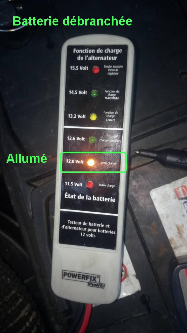 batterie ou alternateur ou testeur 0-02-011