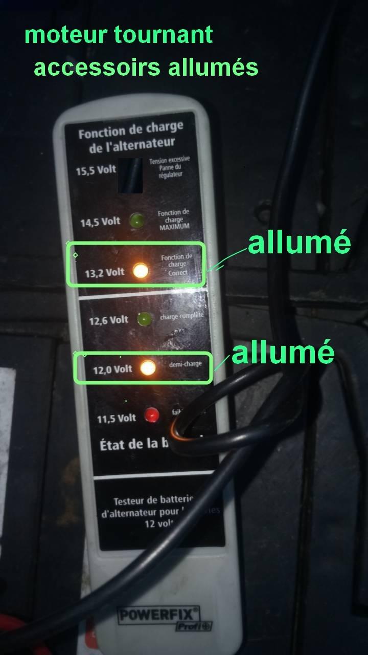 batterie ou alternateur ou testeur 0-02-017